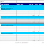 Template for Tracking Annual Marketing Plan Goals, Strategies and Tactics