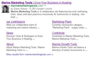 Google authorship content