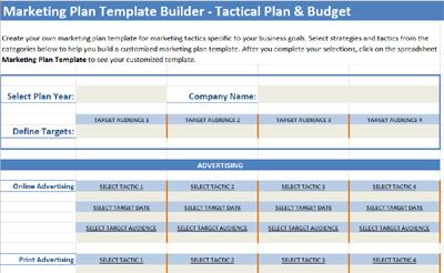 marketing plan template builder
