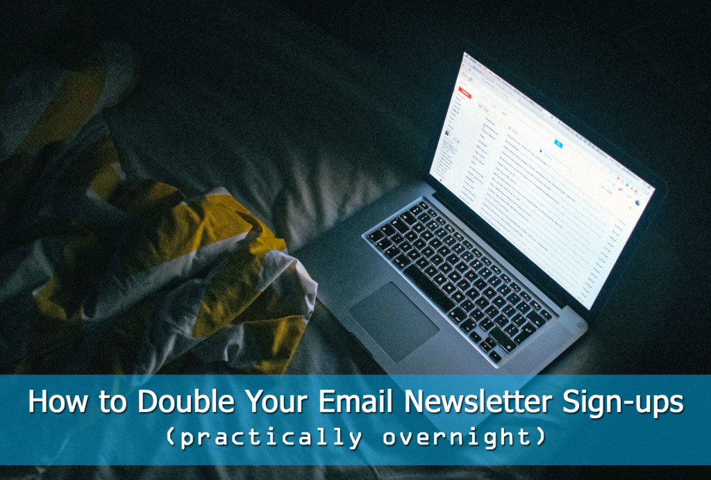 double email newsletter signups