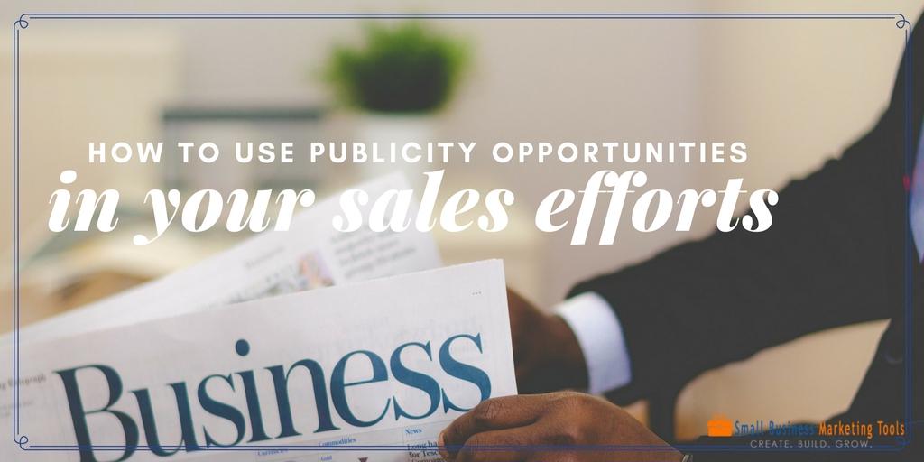 Publicity sales efforts