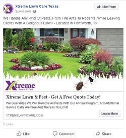 Facebook ad headline